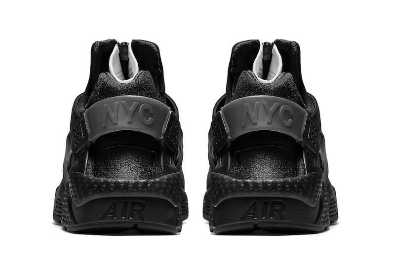 Nike Air Huarache Run City Series NYC in Black White Triple Black