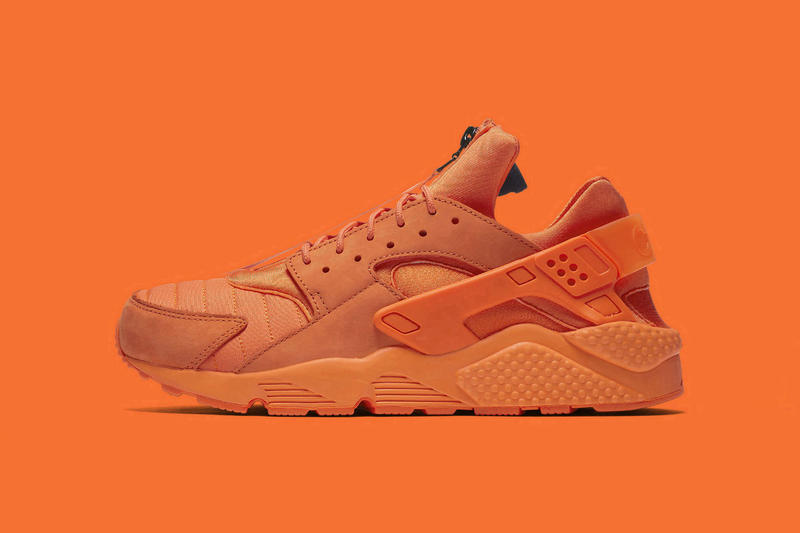 fbfe94e14 Nike Air Huarache Run QS Chi Chicago Orange Navy Zip Sneakers Shoes  Footwear 2017 November 18