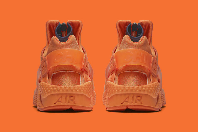 Nike Air Huarache Run QS Chi Chicago Orange Navy Zip Sneakers Shoes Footwear 2017 November 18 Release Date Info