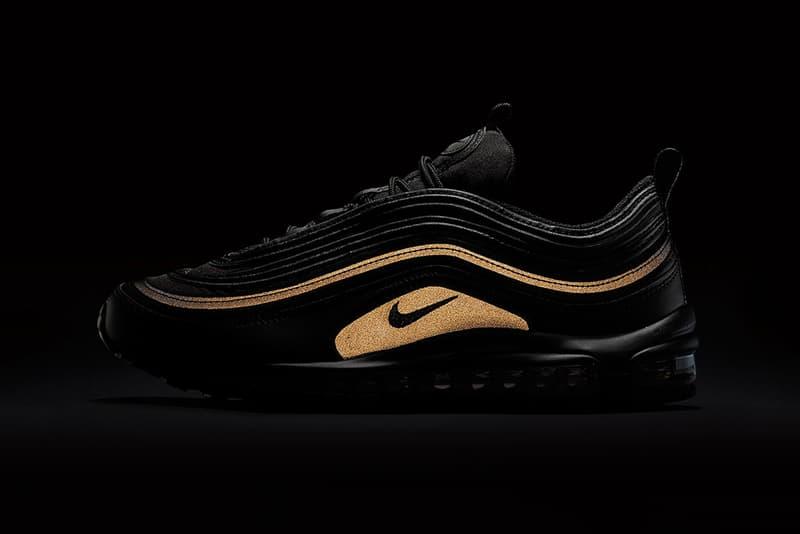 535950376f5 Nike Air Max 97 Black Gold Reflective Black Friday 2017
