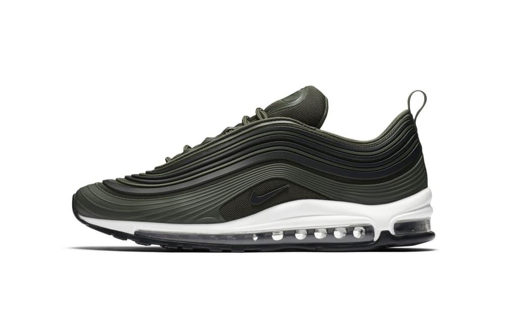 Nike Air Max 97 Ultra Premium Olive Green 2017 December Release Date Info Sneakers Shoes Footwear