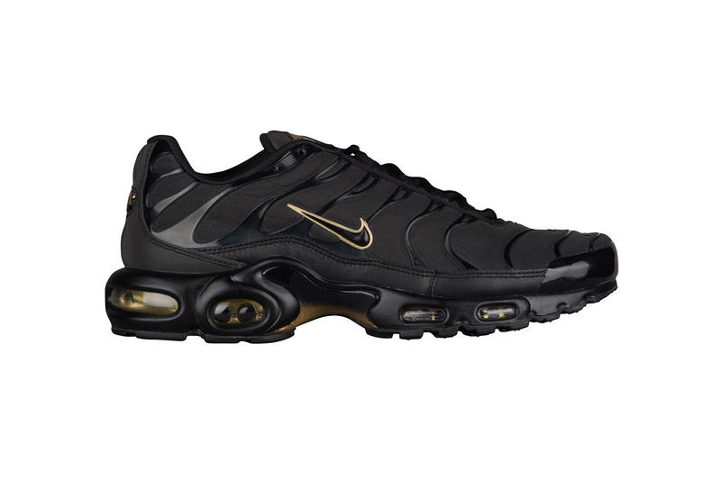 newest collection 4de00 51905 Nike Air Max Plus Black Metallic Gold