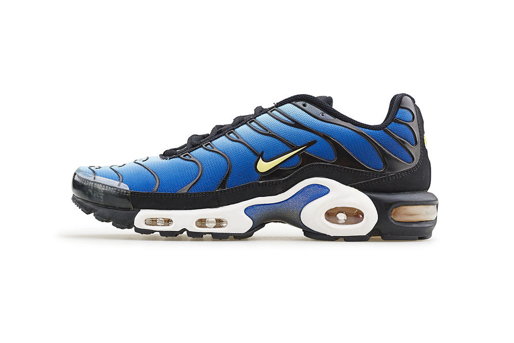 Nike Air Max Plus Tn Tuned Air Untold Story Sean McDowell designer Inspiration 1997 Running shoe details Palm tree whale