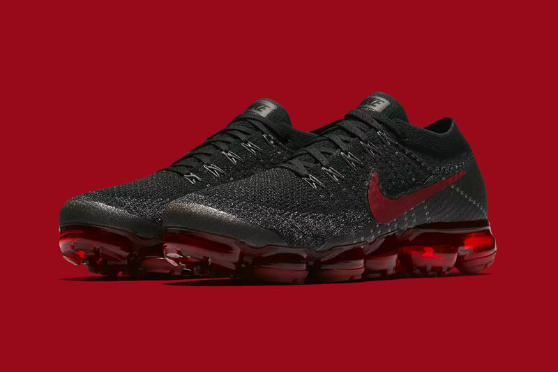 Nike Air VaporMax Flyknit Bred Black and Red