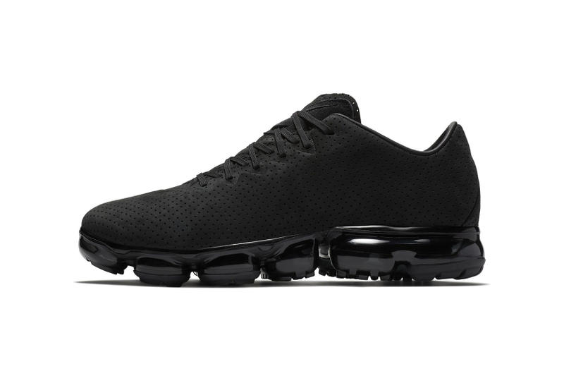 719a45d386 Nike Air Vapormax Leather suede perforation nubuck swoosh Triple Black 2017  2018 Release Date Info Sneakers