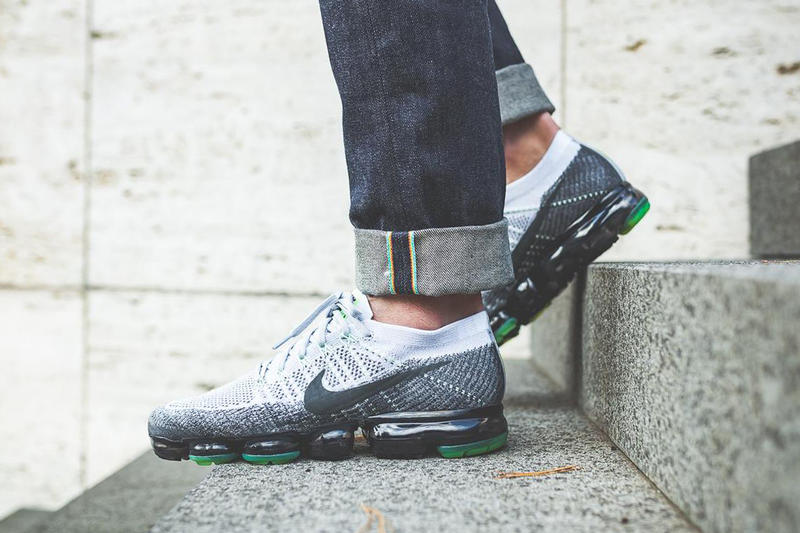 b121784976 Nike Air Vapormax Neon On Foot neon black white footwear max 95 am95 volt  green black