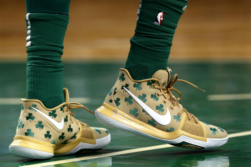 Nike Kyrie 3 Luck Boston Celtics Gold Green Shamrock 2017 November 17 Release Date Info House of Hoops Harlem Sneakers Shoes Footwear PE
