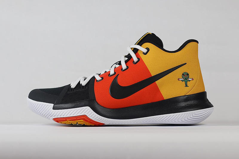 Kyrie Irving Nike Kyrie 3 Raygun PE Footwear Black Orange Yellow Roswell  Rayguns Vince Carter Player 898be8db6c