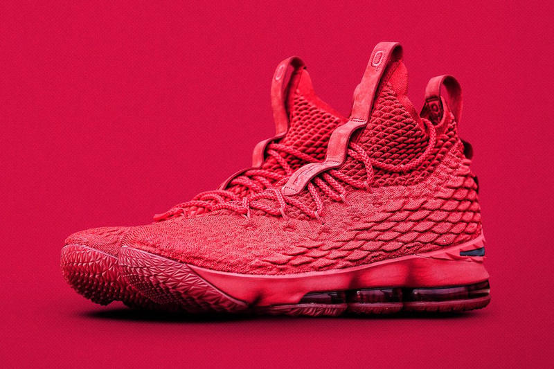 Nike LeBron 15 Ohio State Exclusive 2017 November Shoe Sneaker Release Date  Drop Info Red Black 78936a94737e