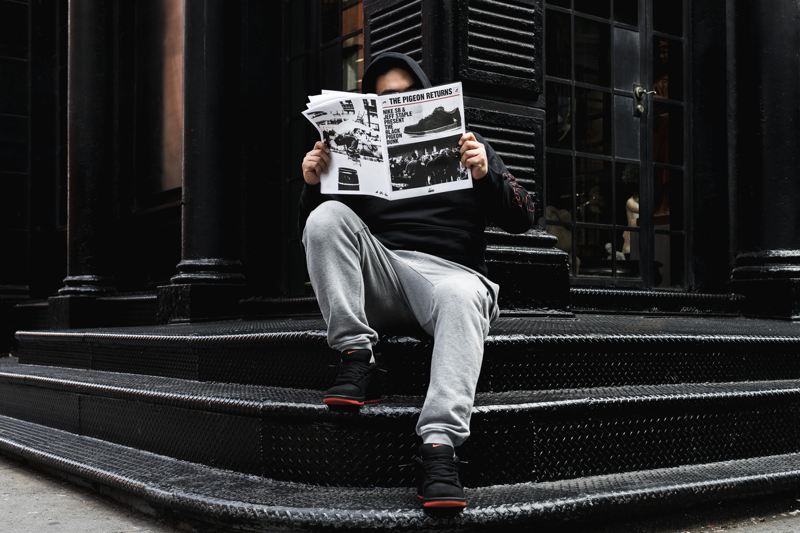 Nike SB Dunk Low Black Pigeon Release