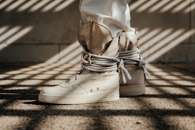 Nike SF AF1 High Rattan Tan Editorial Notre Sneakers Shoes Footwear Air Force 1