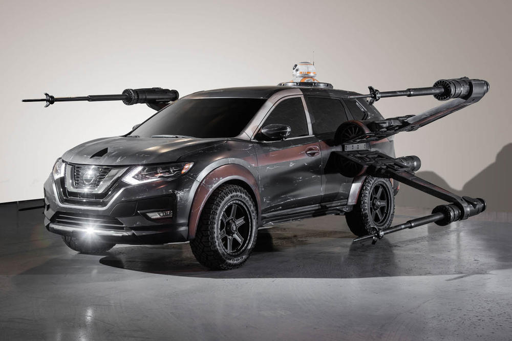 Nissan Star Wars The Last Jedi Concept Vehicles Cars maxima la los angeles auto show automotive altima TIE Fighter Kylo Ren captain phaser Silencer spacecraft spaceship Rouge Poe Dameron X-wing BB-8 A-wing