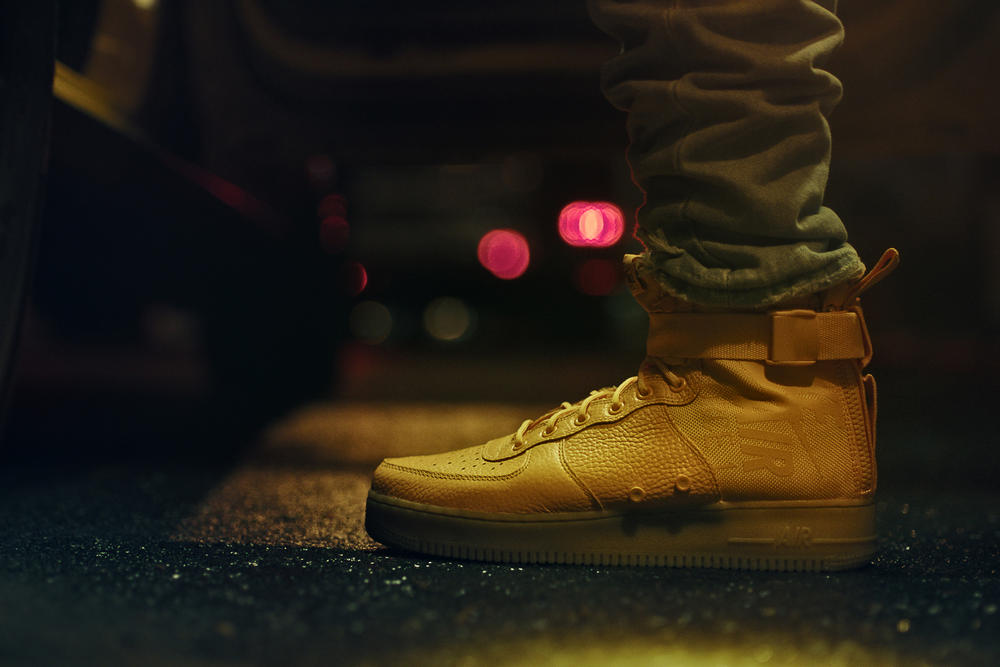 Odell Beckham Jr Nike SF AF1 Mid NYC yellow taxi footwear