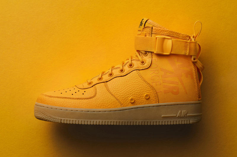 Odell Beckham Jr Nike SF AF1 Mid OBJ Air Force 1 2017 November 24 Black Friday Release Date Info Sneakers Shoes Footwear taxi yellow orange nfl
