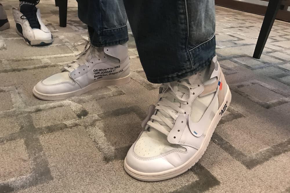 Off-White Nike Air Jordan 1 White Virgil Abloh Leak On-Feet First Look