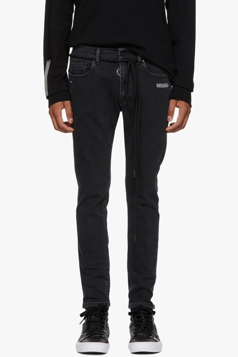 Off White Off-White™ Firetape Collection moto biker Jackets Hoodies Shirts Pants Socks Release Date Info Drops Virgil Abloh SSENSE