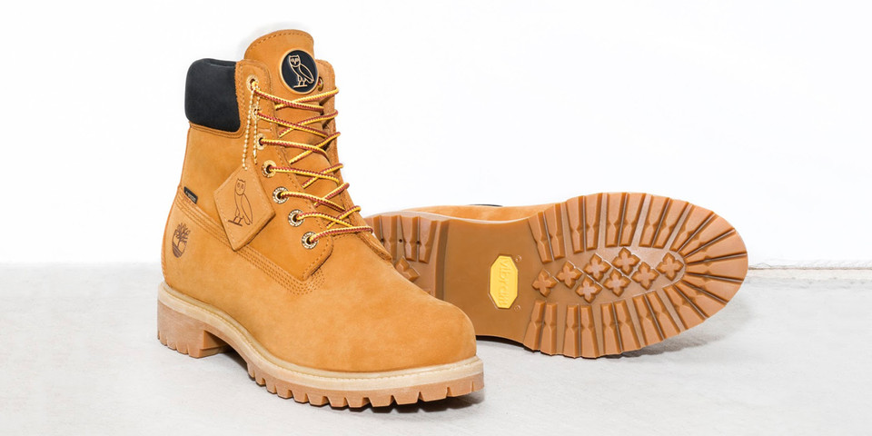 8b4275ad6fc OVO x Timberland 6-Inch Boots Wheat & Black   HYPEBEAST
