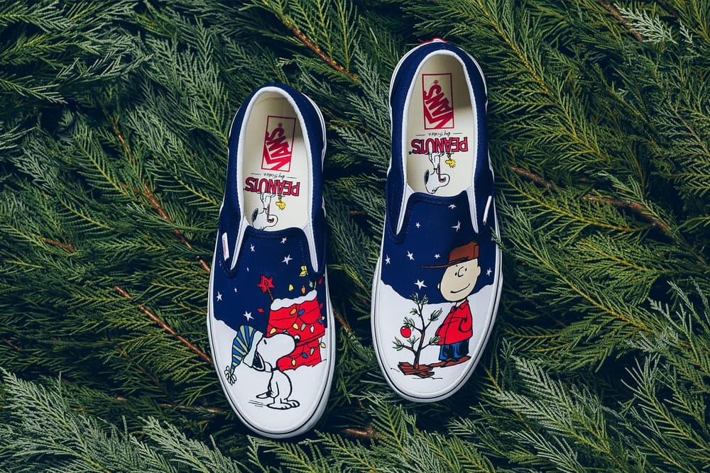 Peanuts Vans Classic Slip On Charlie Brown Christmas Tree 2017 November Release Date Info Sneakers Shoes Footwear Politics