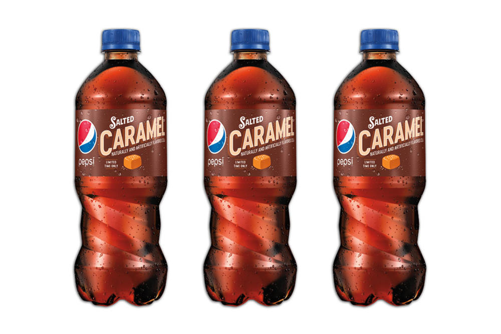 Pepsi Salted Caramel Flavor cola soda usa america starbucks