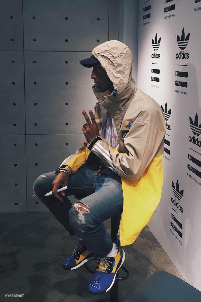 Pharrell Williams adidas Originals Hu Energy BOOST Sneakers Footwear Shoes