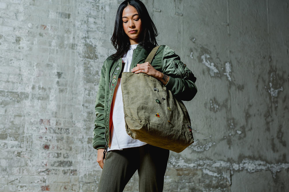 PINTRILL Leisure Life Collaboration Champion Reverse Weave Military Surplus Bags 2017 November 24 Black Friday Release Date Info