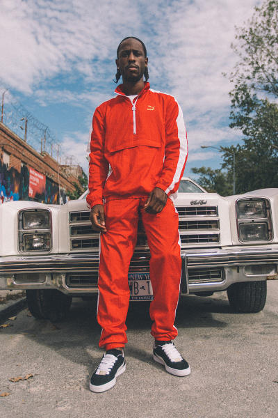 PUMA B Boy Capsule Collection Suede 50th Anniversary Tracksuit Red Black