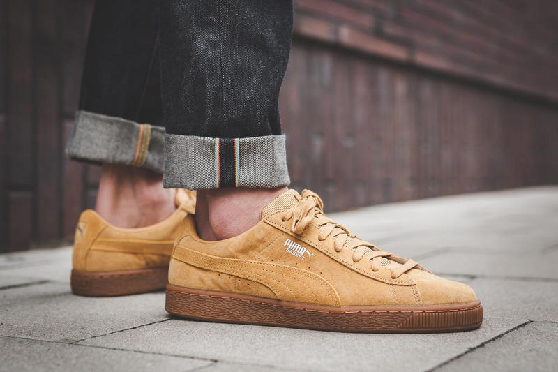 uk availability d789c 31599 PUMA Basket Classic Wheat Weatherproof