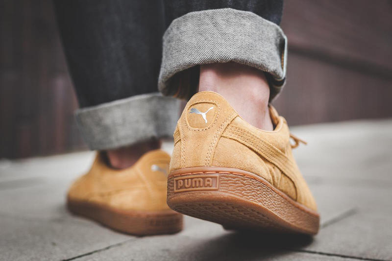 PUMA Basket Classic suede nubuck clyde flax Wheat Weatherproof taffy brown tan gold afew sneaker store november 2017 fall autumn