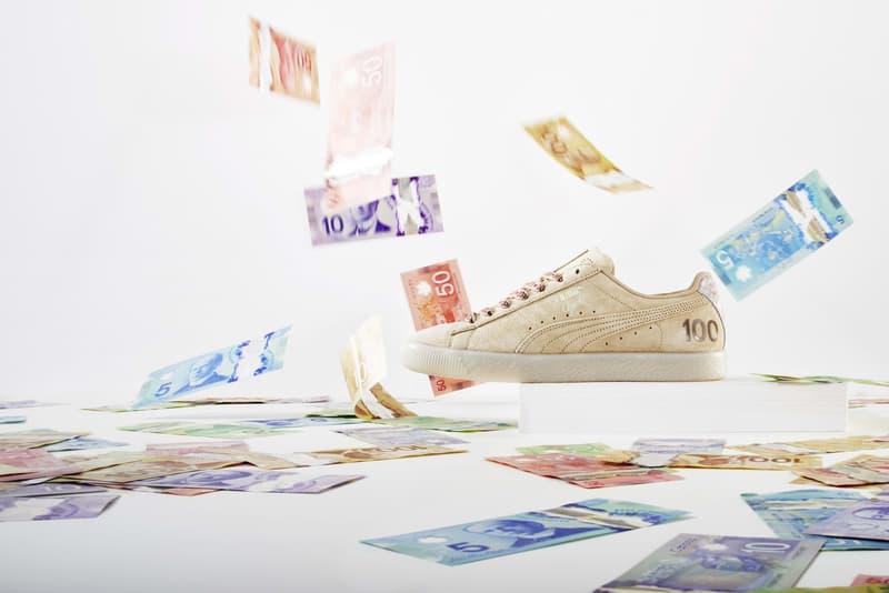 "PUMA ""Canadian Money"" Clyde Pack Canada Dollar Bill"