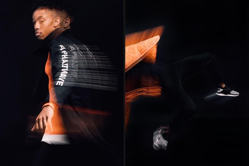 Puma Tsugi Jun action shot in orange