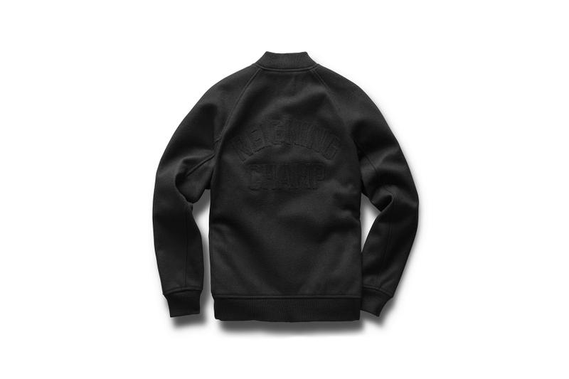 Reigning Champ One Decade No Compromise Capsule 10 Year Anniversary fashion black grey gray varsity jacket coat rc hoodie crewneck sweatshirt sweatpants
