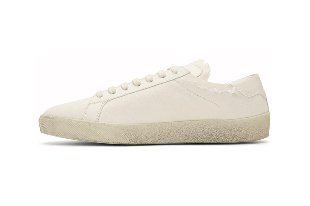 Saint Laurent Embroidered Court Classic Sneakers Anthony Vaccarello