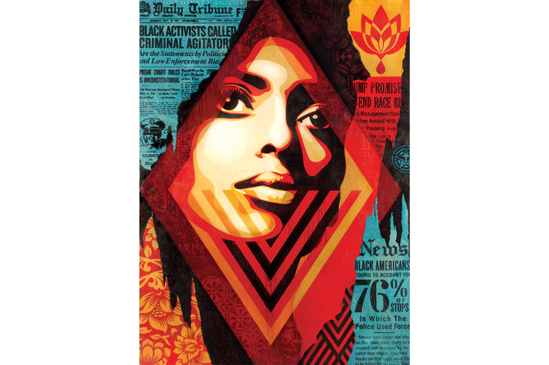 Shepard Fairey Obey Giant Library Street Collective Los Angeles California Art Artwork Exhibit Painting Print Installation