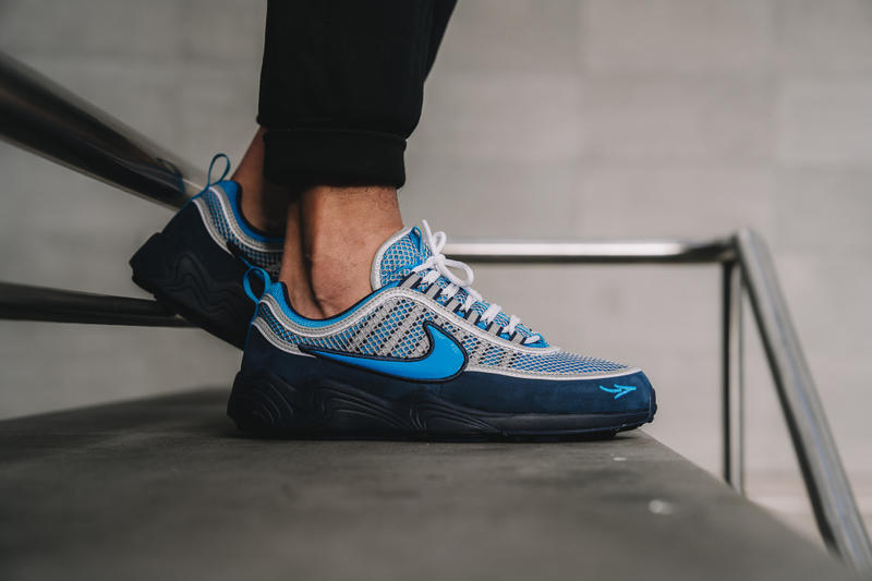 chaussures de sport e99dd d248b STASH x Nike Air Zoom Spiridon '16 on Foot Look | HYPEBEAST