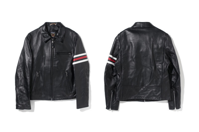 Stussy Schott NYC Fall Winter 2017 Racing Jacket November Release Date Info Black Red White Stripes