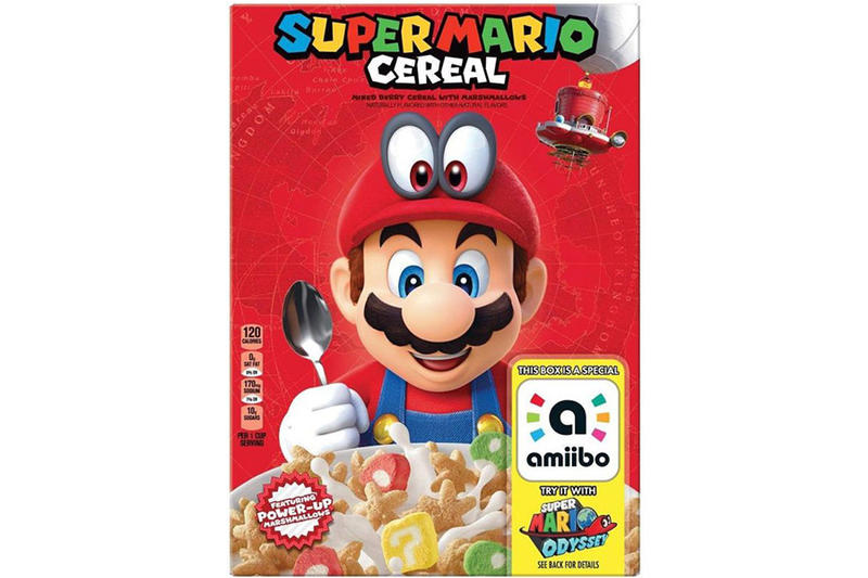 Super Mario Cereal Kelloggs Nintendo Odyssey Amiibo Sticker Marshmallow Limited Edition Star