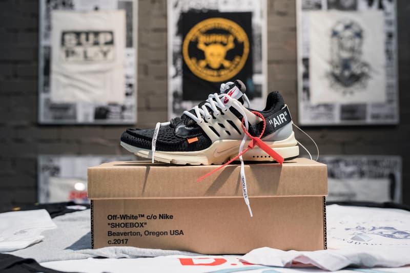 Virgil Abloh Nike The Ten Collection Jordan Brand Raffle Footwear Sneakers Shoes SUPPLY Store