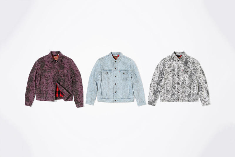 Supreme x Levi's 2017 Fall/Winter Snakeskin Collection Purple Blue White Black