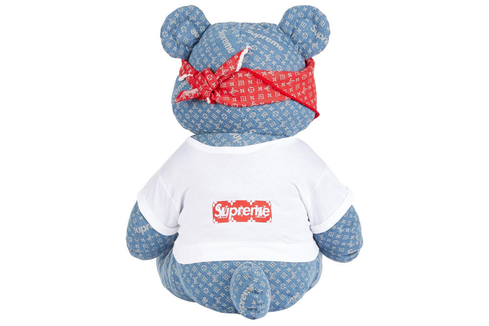 Supreme x Louis Vuitton Teddy Bear BBC Children In Need Pudsy Edie Campbell Kim Jones James Jebbia