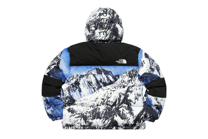 Supreme The North Face Winter 2017 Collection Release Baltoro Mountain Parka White Blue Jacket Backpack Blanket