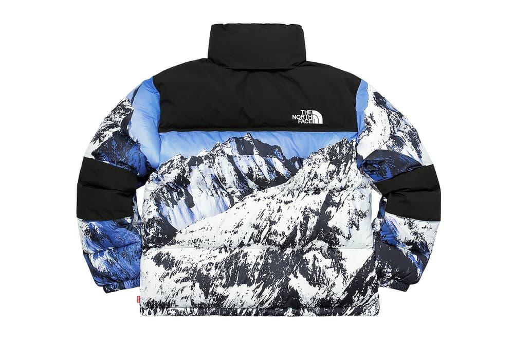 Supreme The North Face Winter 2017 Collection Release Baltoro Mountain Parka White Blue Jacket Backpack Blanket Duvet Comforter