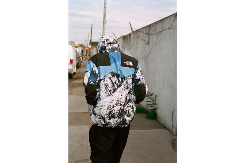 Supreme The North Face Winter 2017 Collection Release Baltoro Mountain Parka White Blue Jacket Backpack Blanket Duvet Comforter