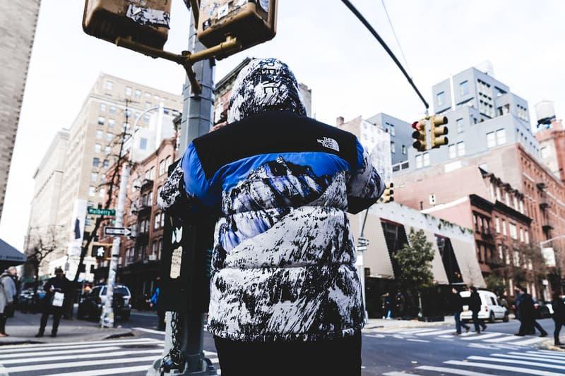 Supreme The North Face Yeezy OG Fuck Em Collaboration 2017 November 30 Drop Release Street Style New York Lafayette