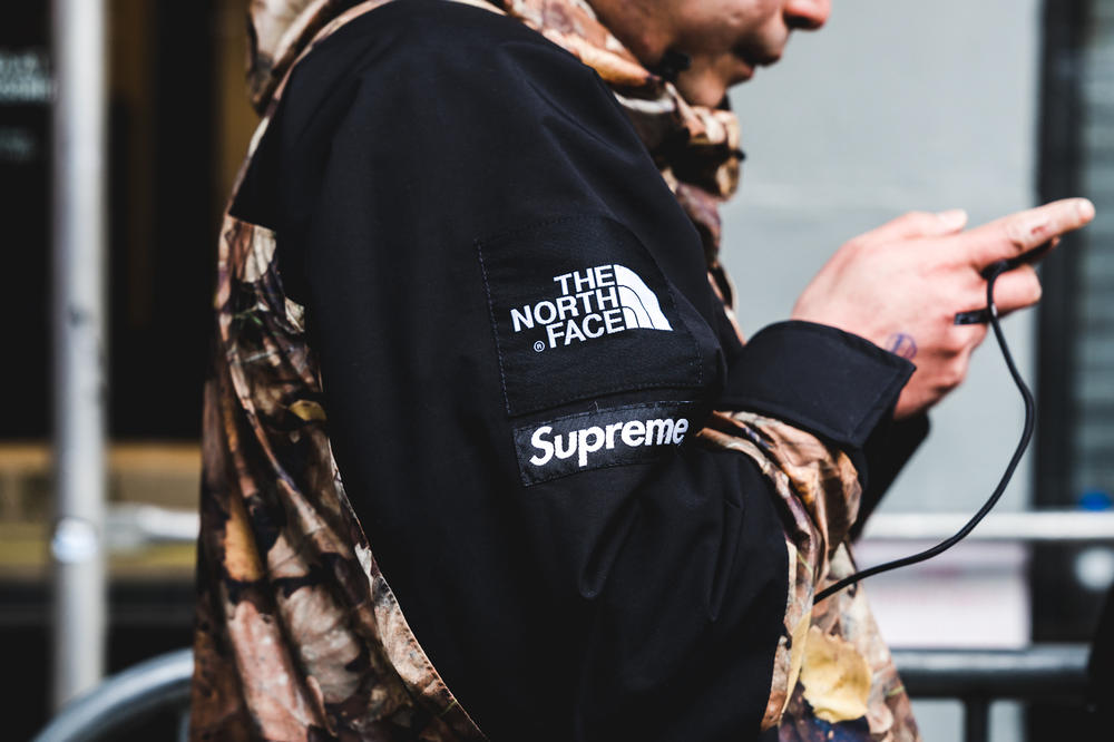Supreme The North Face Yeezy OG Fuck Em Collaboration 2017 November 30 Drop Release Street Style New York Lafayette