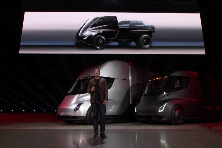 Tesla Electric Pickup Truck Model Rendering Elon Musk