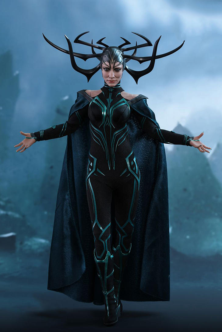 Thor: Ragnarok Hela Scale Figurine Hot Toys Doll Model Cate Blanchett Hand-Painted Sword Mjolnir
