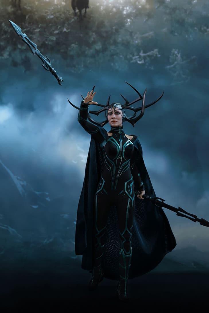 Thor: Ragnarok Hela Scale Figurine Hot Toys Doll Model Cate Blanchett Hand-Painted Sword Mjolnir