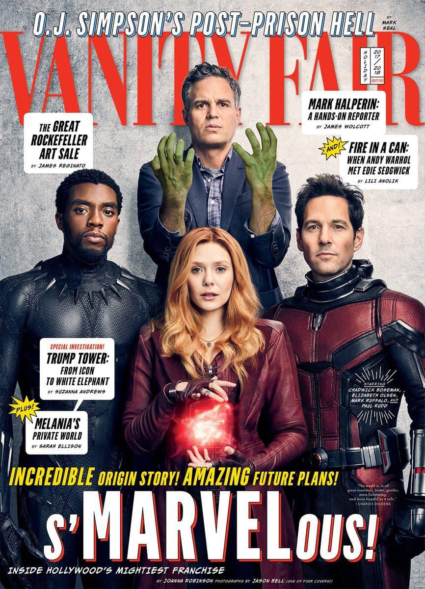 Vanity Fair has four 4 Covers Marvel Anniversary 10 ten years decade films movies