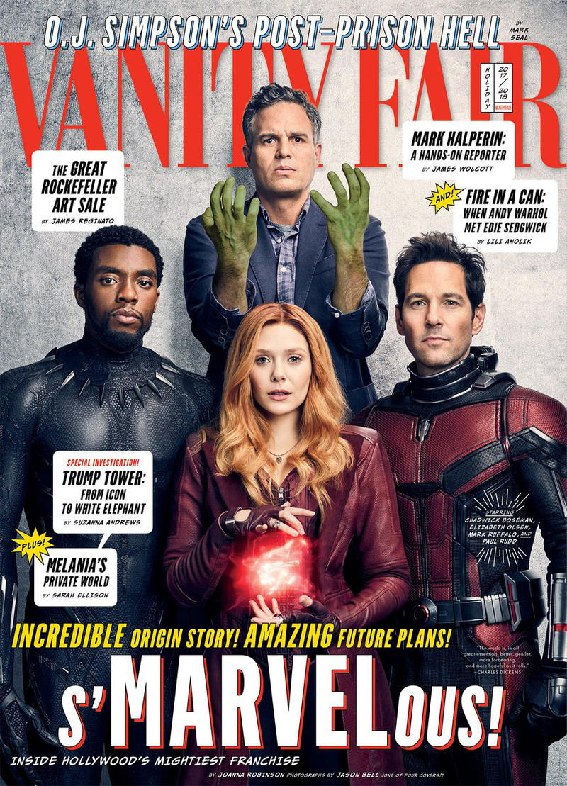 Vanity Fair has four 4 Covers Marvel Anniversary 10 ten years decade films movies