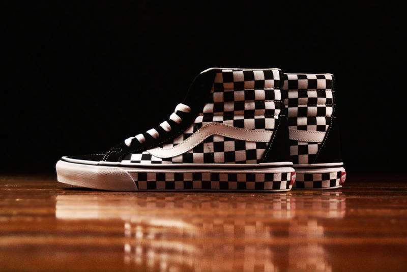 Vans Checkerboard Authentic 44 DX and Checkerboard Sk8-Hi Checkered Authentic 44 DX Checkered sk8 hi reissue shoes holiday gift guide black friday vintage mens shoes skateboard shoes skateboarding check print checkers cheque chequeboard